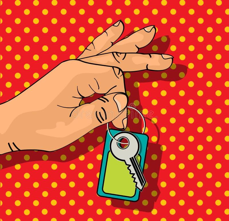Ключи удерживания иллюстрация штока