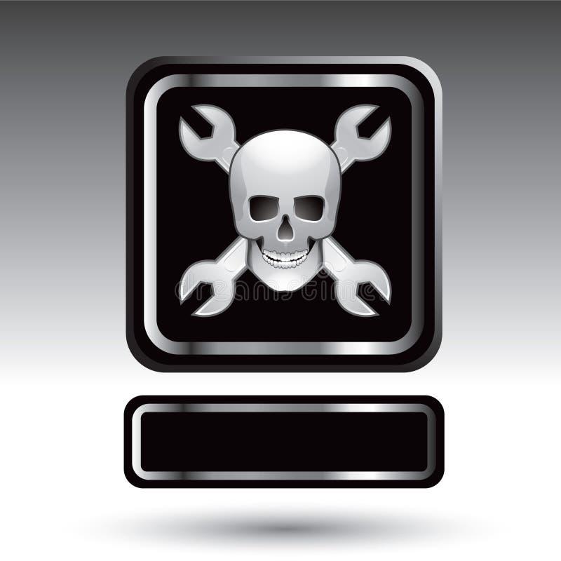 ключи черепа nameplate знамени иллюстрация штока