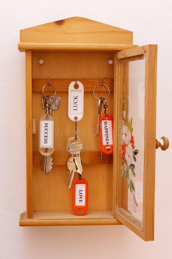 ключи шкафа стоковое изображение rf
