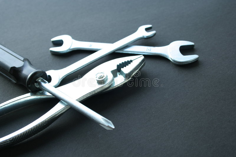 ключи scrow плоскогубцев стоковое фото