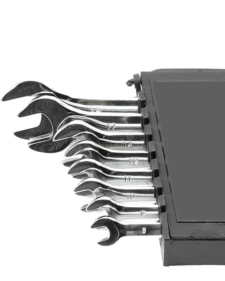 ключ ванадия крома установленный стоковая фотография rf