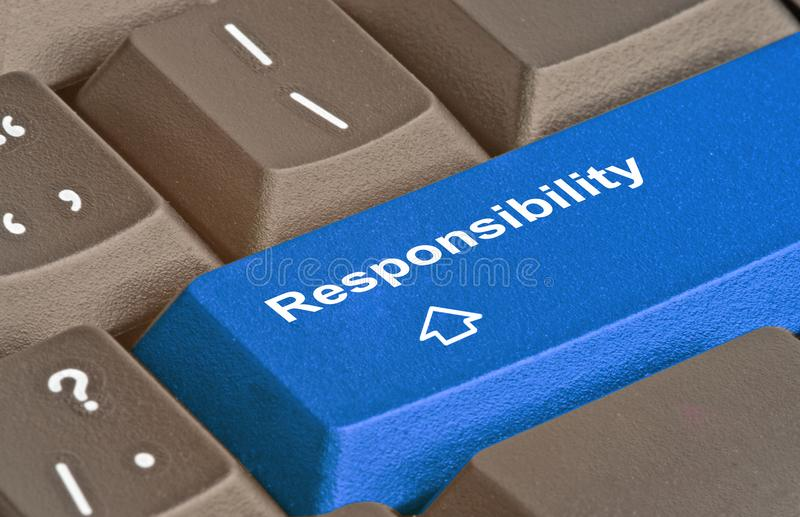 Ключ для ответственности стоковое изображение