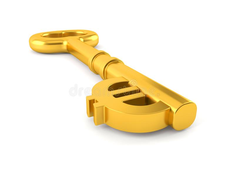 Ключ евро бесплатная иллюстрация