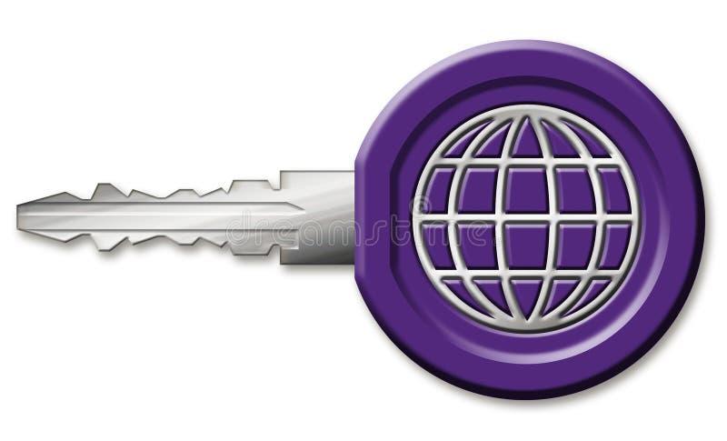 ключ интернета иллюстрация штока