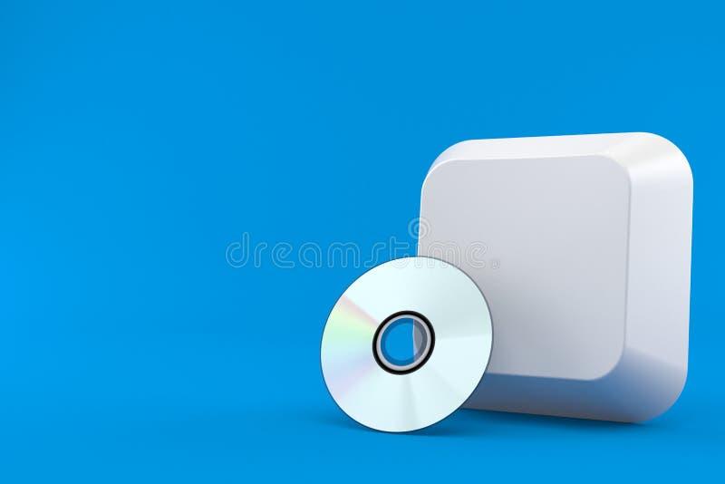 Ключ компьютера с диском CD бесплатная иллюстрация