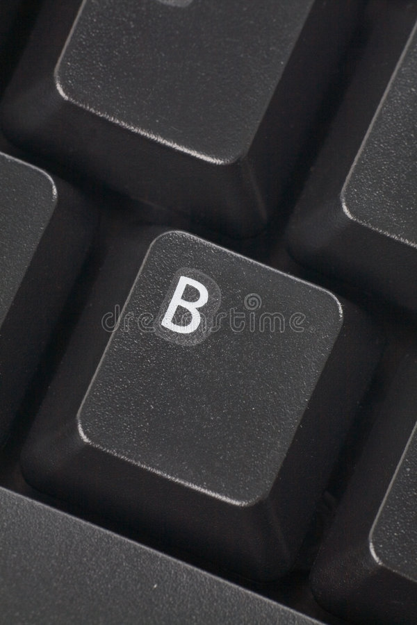 ключ компьютера b стоковая фотография