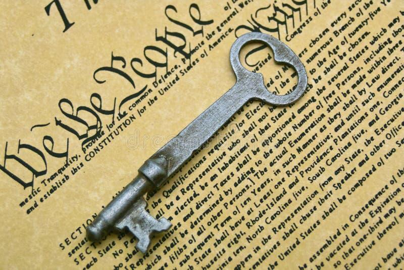 ключ конституции стоковые фото