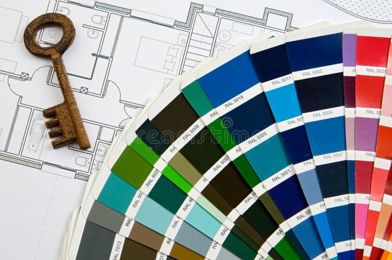 ключ конструкции цветов стоковое изображение rf