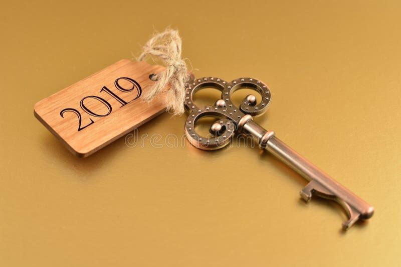 Ключ к Новому Году 2019 стоковые фото
