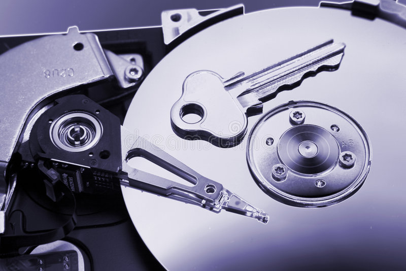 ключ привода компьютера трудный стоковые изображения rf
