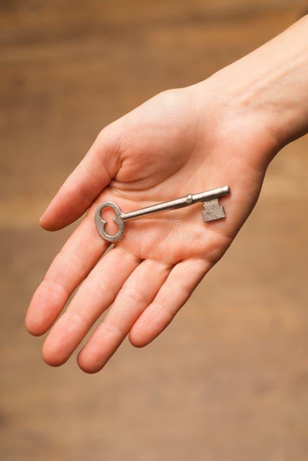 ключ руки стоковые фотографии rf