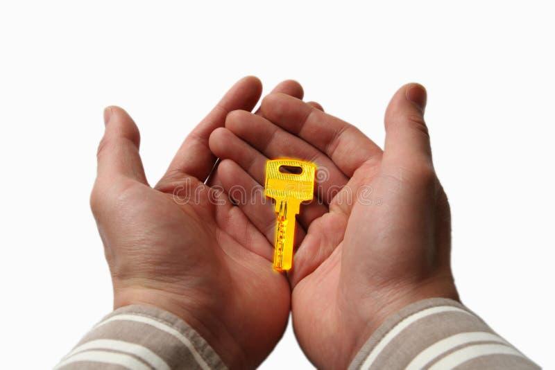 ключ руки стоковое изображение