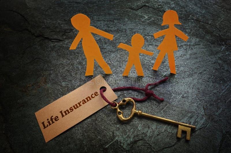 Ключ семьи страхования жизни стоковое изображение rf