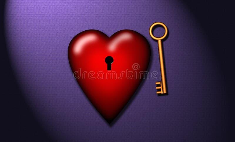 ключ сердца мой к иллюстрация вектора