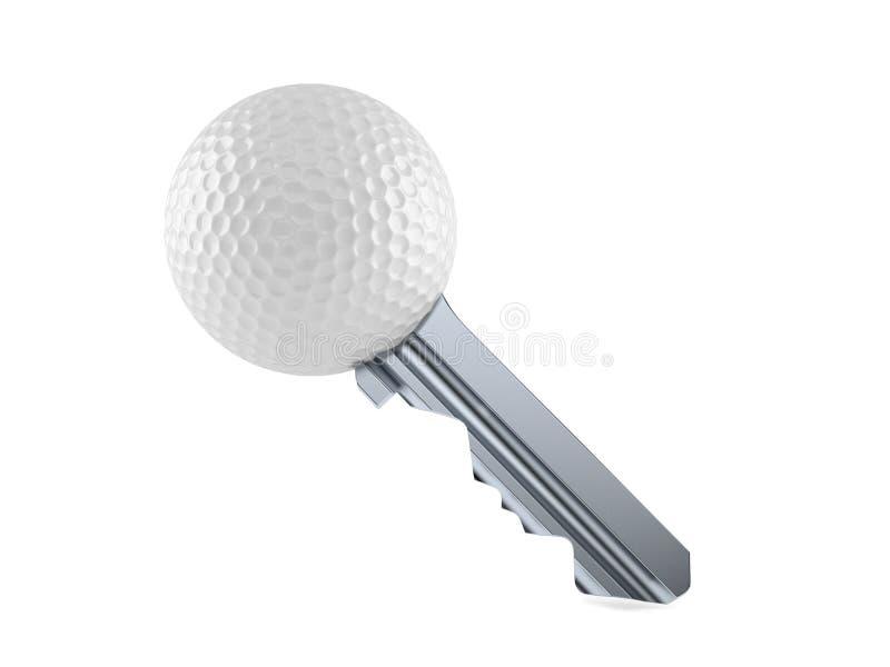 Ключ шара для игры в гольф иллюстрация штока