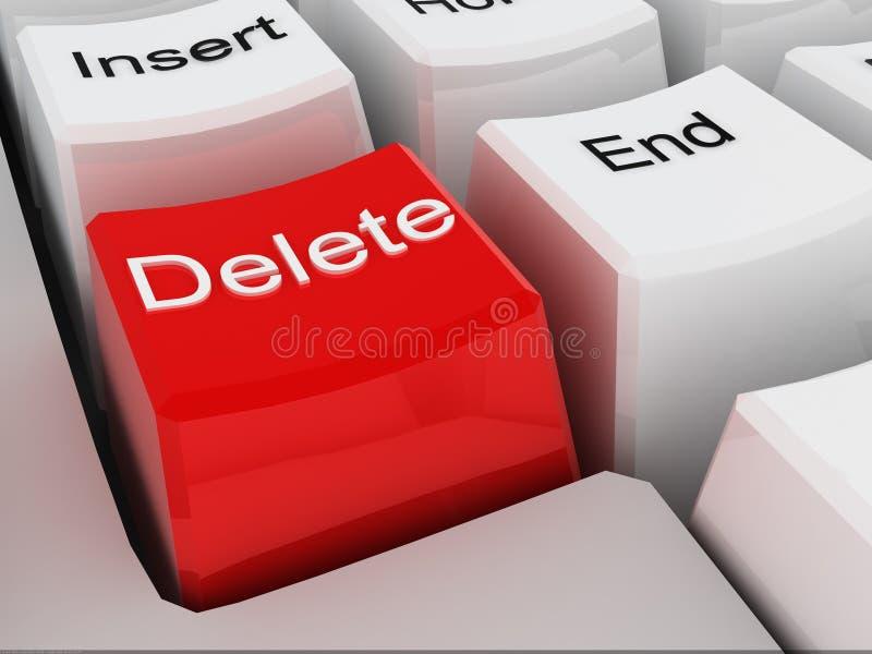 ключ delete иллюстрация штока