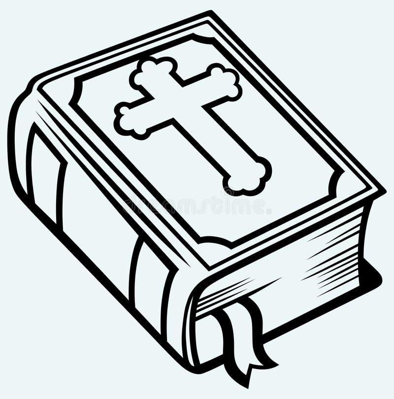 Книга библии иллюстрация вектора