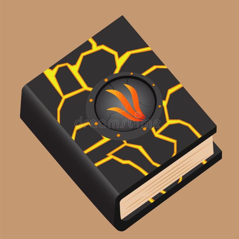 Книга волшебства огня иллюстрация вектора