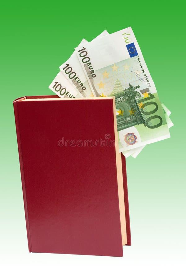 книга изолировала деньги стоковое изображение rf