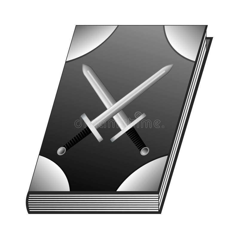 Книга искусств Swordsman для вашего дизайна, игры, карточки война Изолированные элементы дизайна GUI также вектор иллюстрации при иллюстрация штока