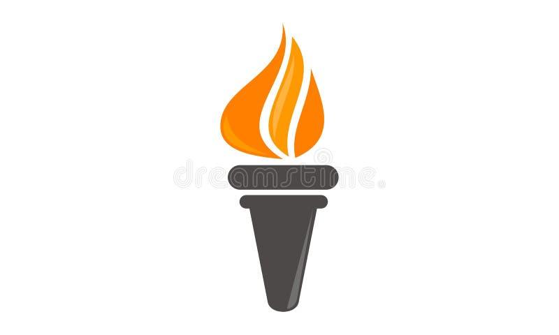 Книга и ручка факела бесплатная иллюстрация