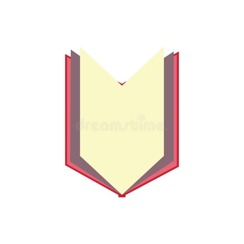 книга которая раскрывает и показывает среднюю страницу иллюстрация штока
