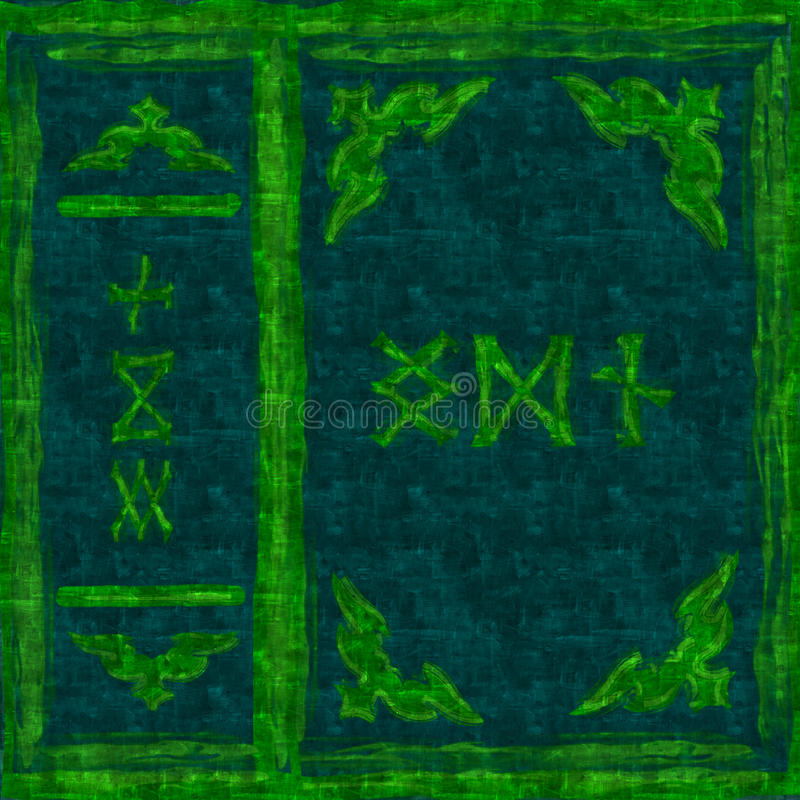 Книга крышки зеленая волшебная стоковая фотография rf