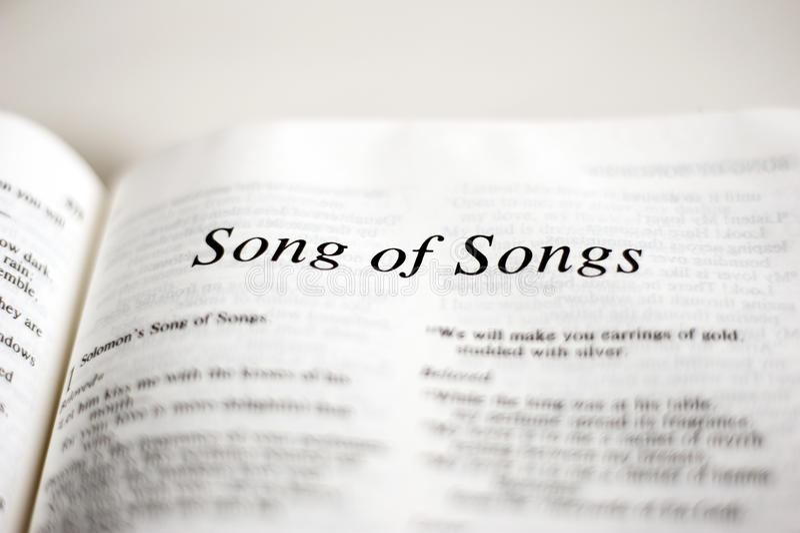 Книга песни песен стоковые изображения rf