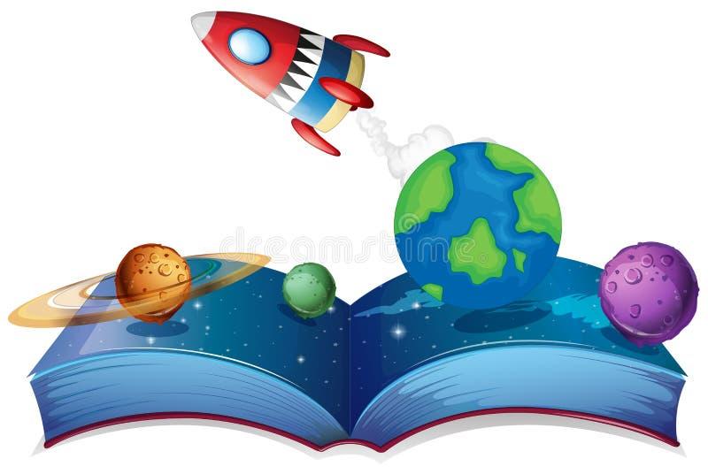Книга Ракеты иллюстрация штока