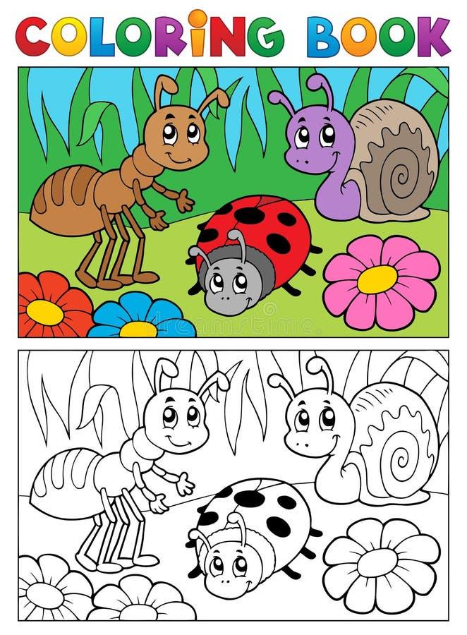 Книга расцветки bugs изображение 5 темы бесплатная иллюстрация