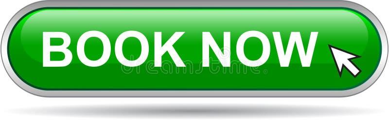 Книги зеленый цвет кнопки сети значка теперь иллюстрация штока
