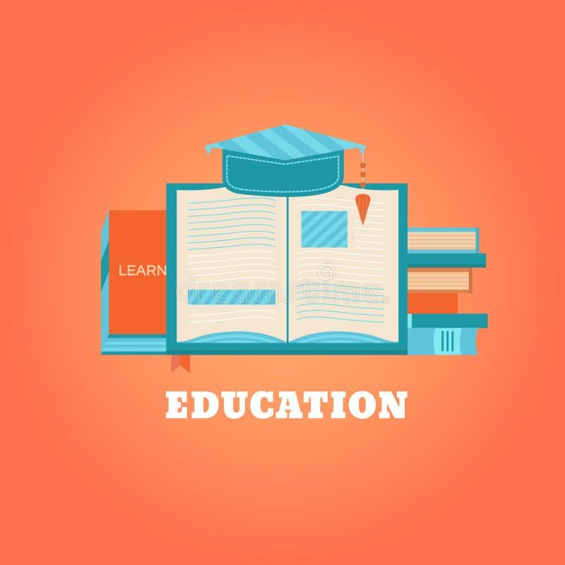 Книги концепции для учить бесплатная иллюстрация