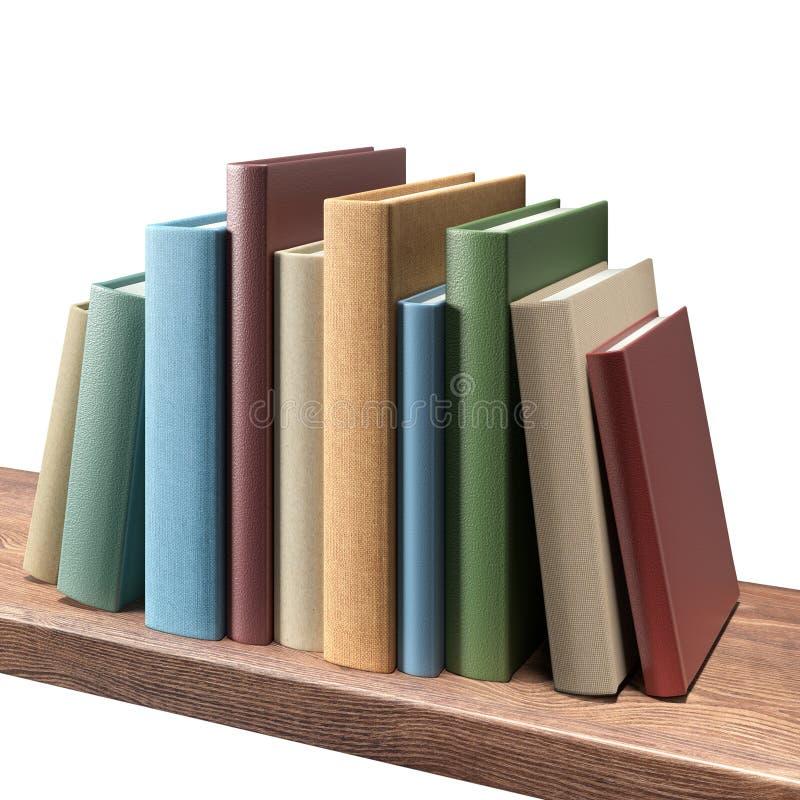 Книги на полке стоковые изображения rf