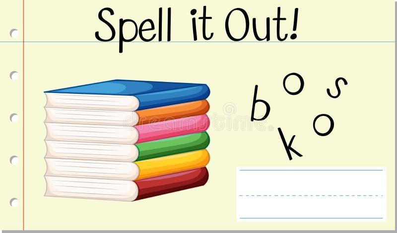 Книги слова произношения по буквам английские иллюстрация вектора