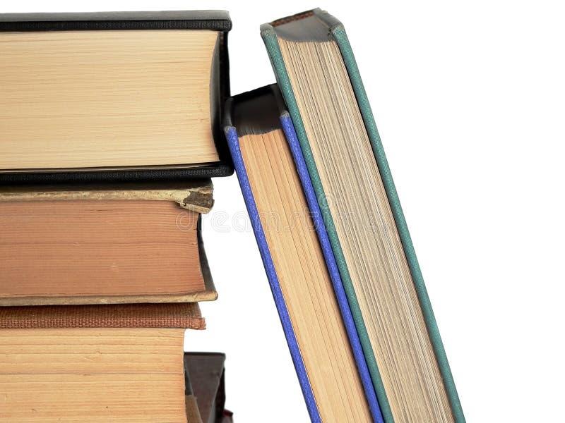 книги снабжают ссылками штабелировано стоковая фотография