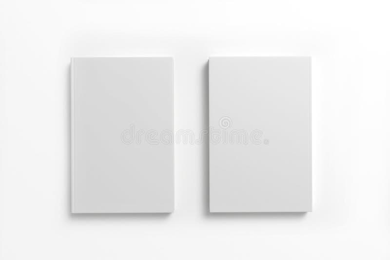 Книги с пустой крышкой на белой предпосылке иллюстрация вектора