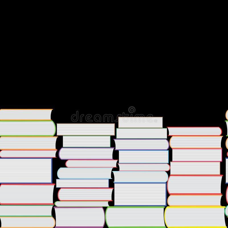 Книги vector безшовная текстура вертикально и горизонтально Предпосылка книжных полок бесплатная иллюстрация