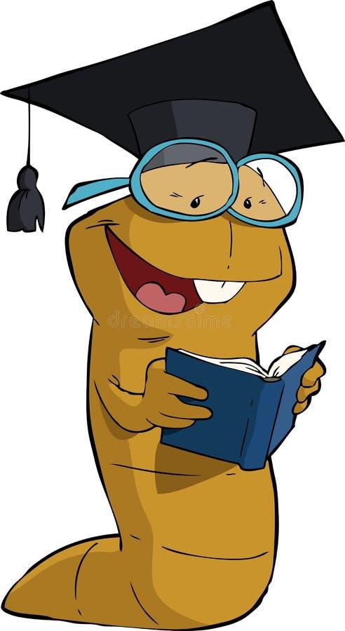 Книгоед иллюстрация штока