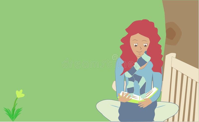 Книгоед женщины стоковые изображения rf