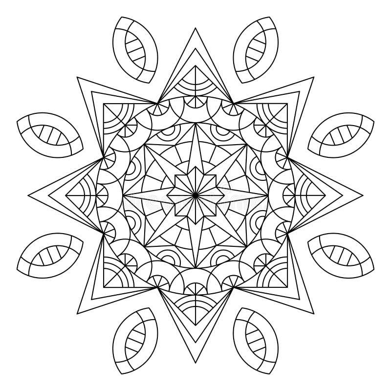 Книжка-раскраска мандалы иллюстрация штока