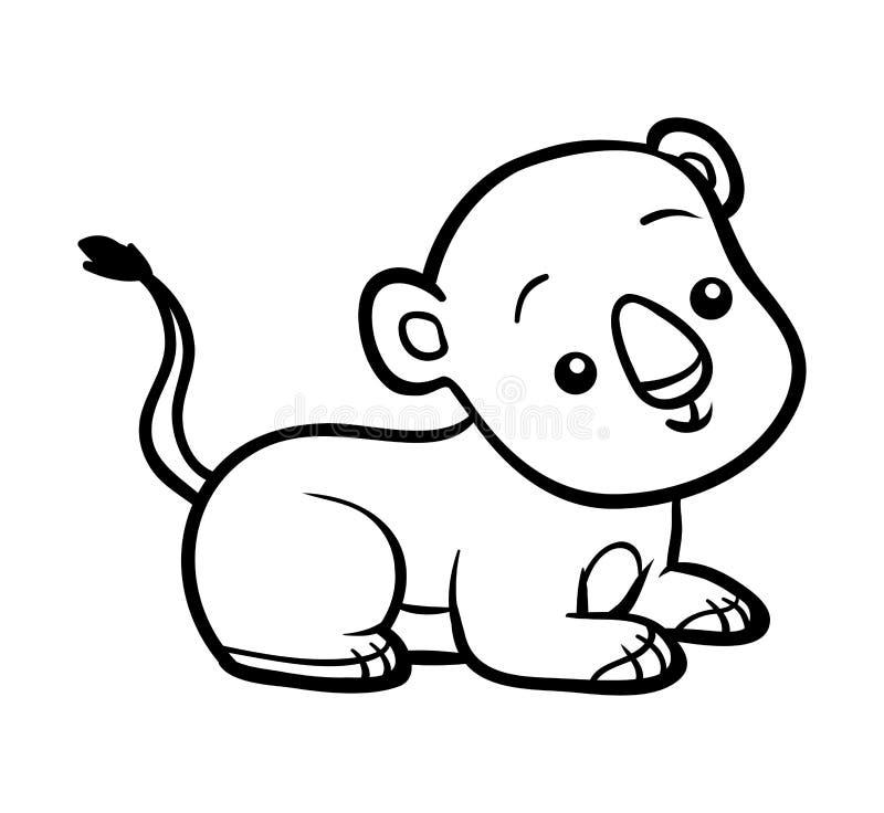 Книжка-раскраска, новичок льва иллюстрация вектора