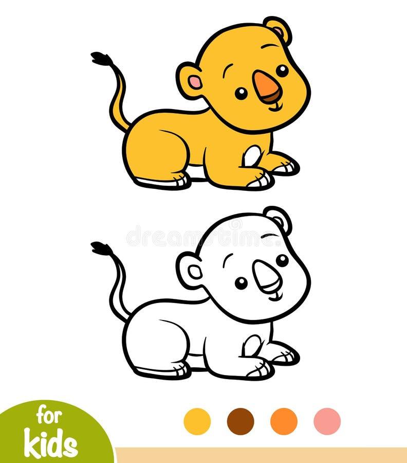 Книжка-раскраска, новичок льва бесплатная иллюстрация
