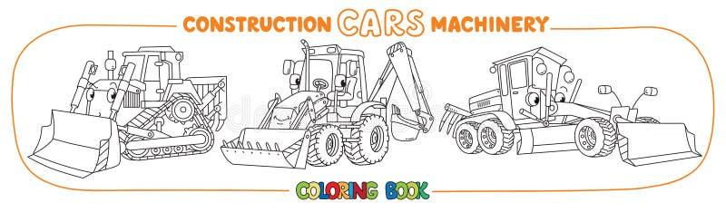 Книжка-раскраска перехода строительной техники бесплатная иллюстрация