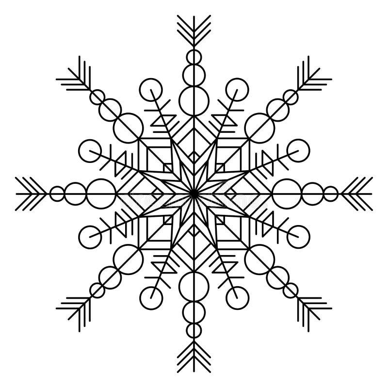 Книжка-раскраска снежинки иллюстрация штока