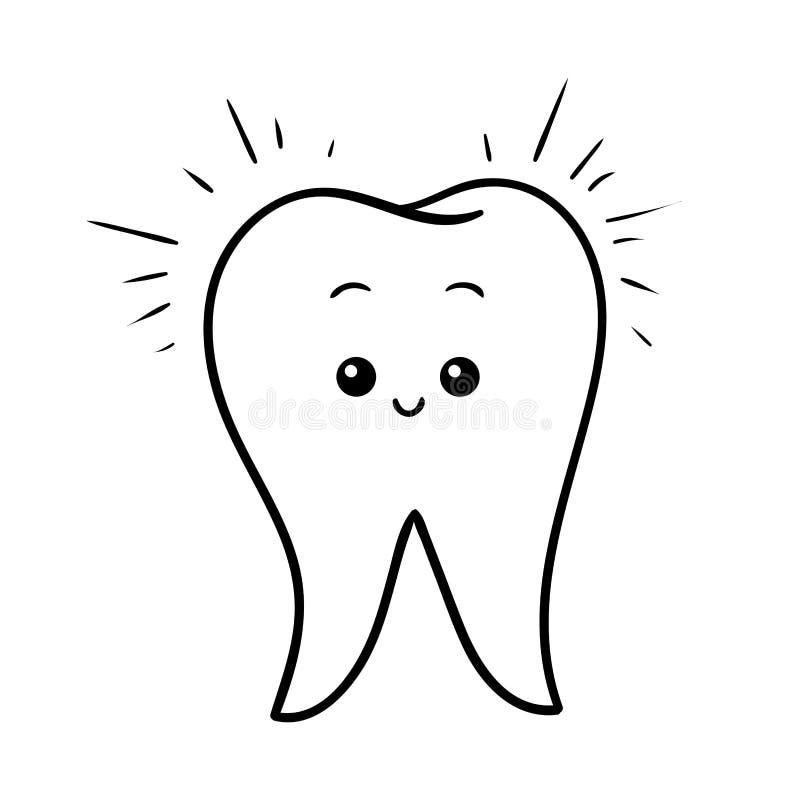 Книжка-раскраска, счастливый зуб бесплатная иллюстрация