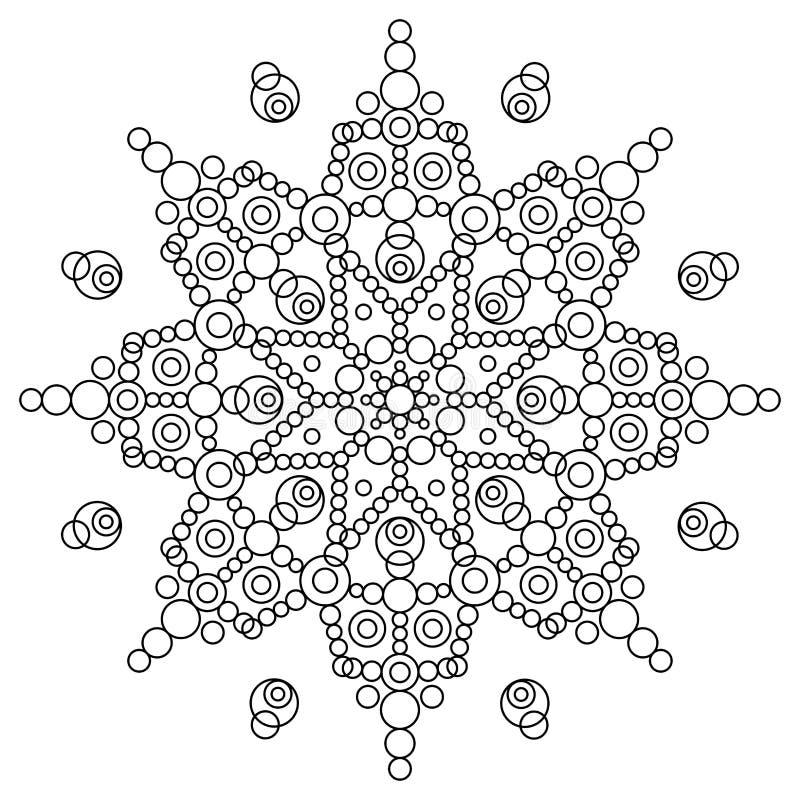 Книжка-раскраска с мандалой иллюстрация вектора