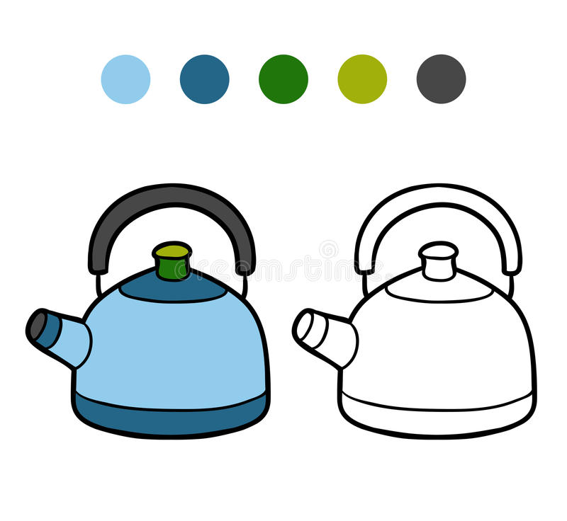 Книжка-раскраска, чайник бесплатная иллюстрация