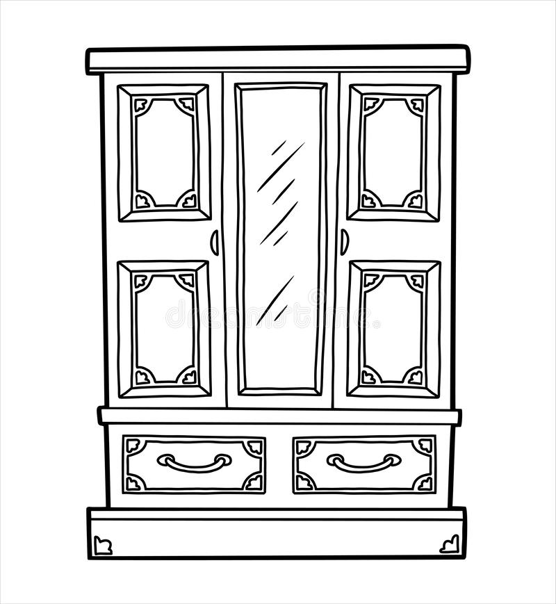 тут картинка раскраска шкаф с полками модуль следует крепить