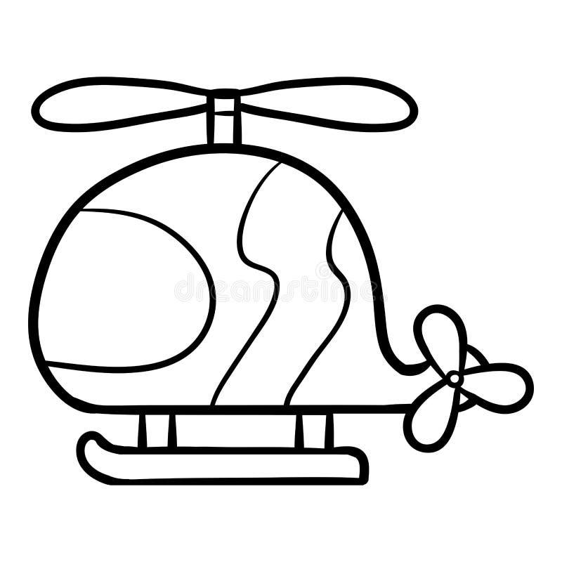 Книжка-раскраска для детей, вертолет бесплатная иллюстрация