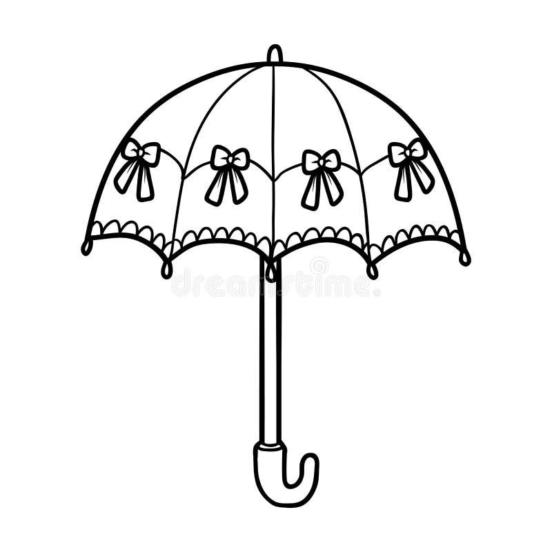 Много маленьких зонтиков раскраска